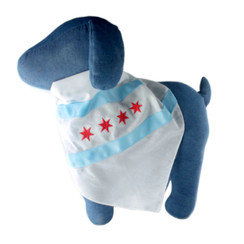 Chicago Flag Embroidered Dog Bandana