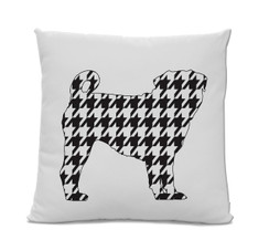 Houndstooth Pug pillow