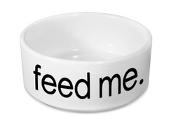 Feed Me Ceramic Dog Bowl
