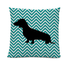 Chevron Dachshund Pillow