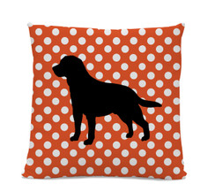 Polka Dot Lab Pillow