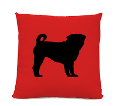 Pug Silhouette Pillow