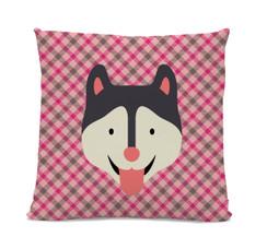 Husky Plaid Pillow