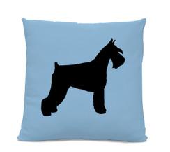 Schnauzer Silhouette Pillow