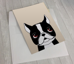 Boston Terrier Greeting Card