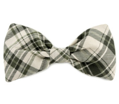 Dog Bow Tie Accessory in Green Plaid