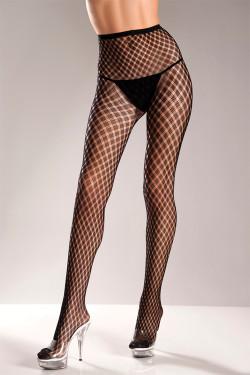 Black Spandex Weave Design Pantyhose