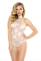 Fantasy Lingerie high neck playsuit