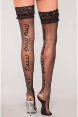 black thigh high hosiery