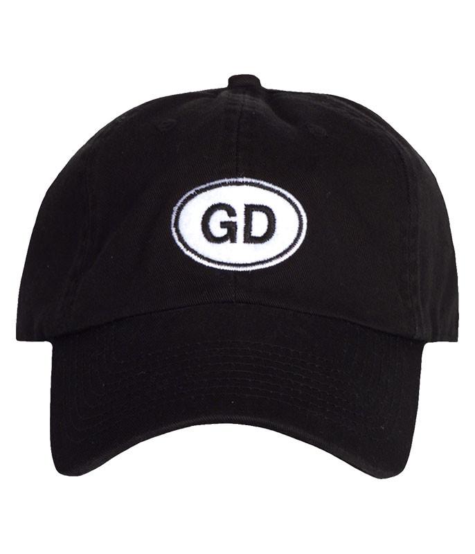 GD OVAL BLACK HAT