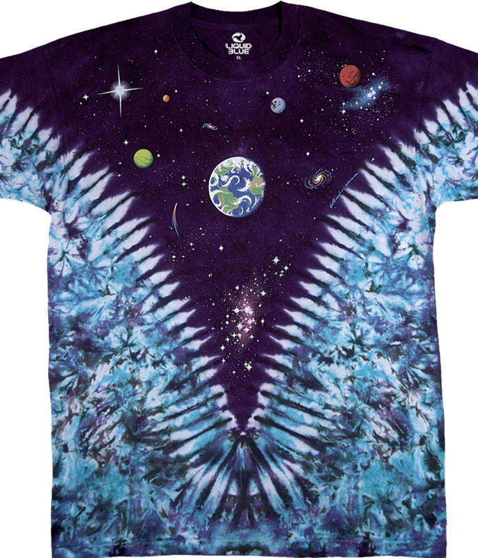SPACE TOP TIE-DYE T-SHIRT