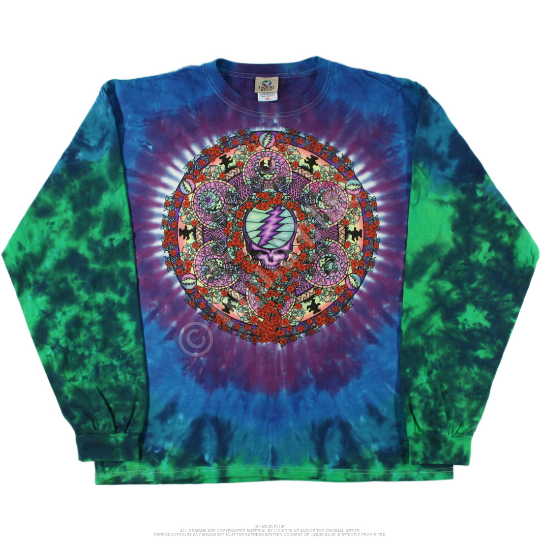 Celtic Mandala Tie-Dye Long Sleeve T-Shirt