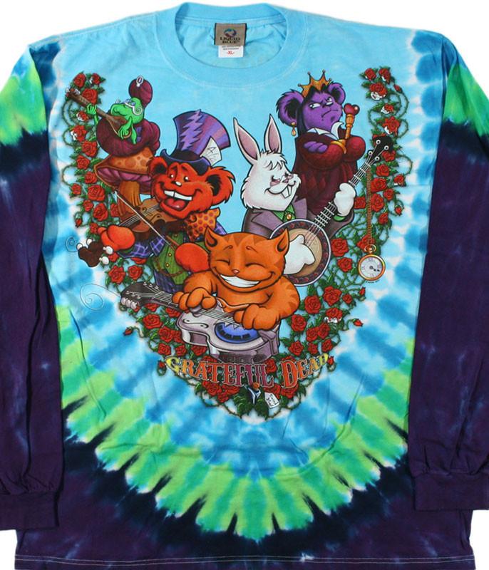 Wonderland Jamband Tie-Dye Long Sleeve T-Shirt