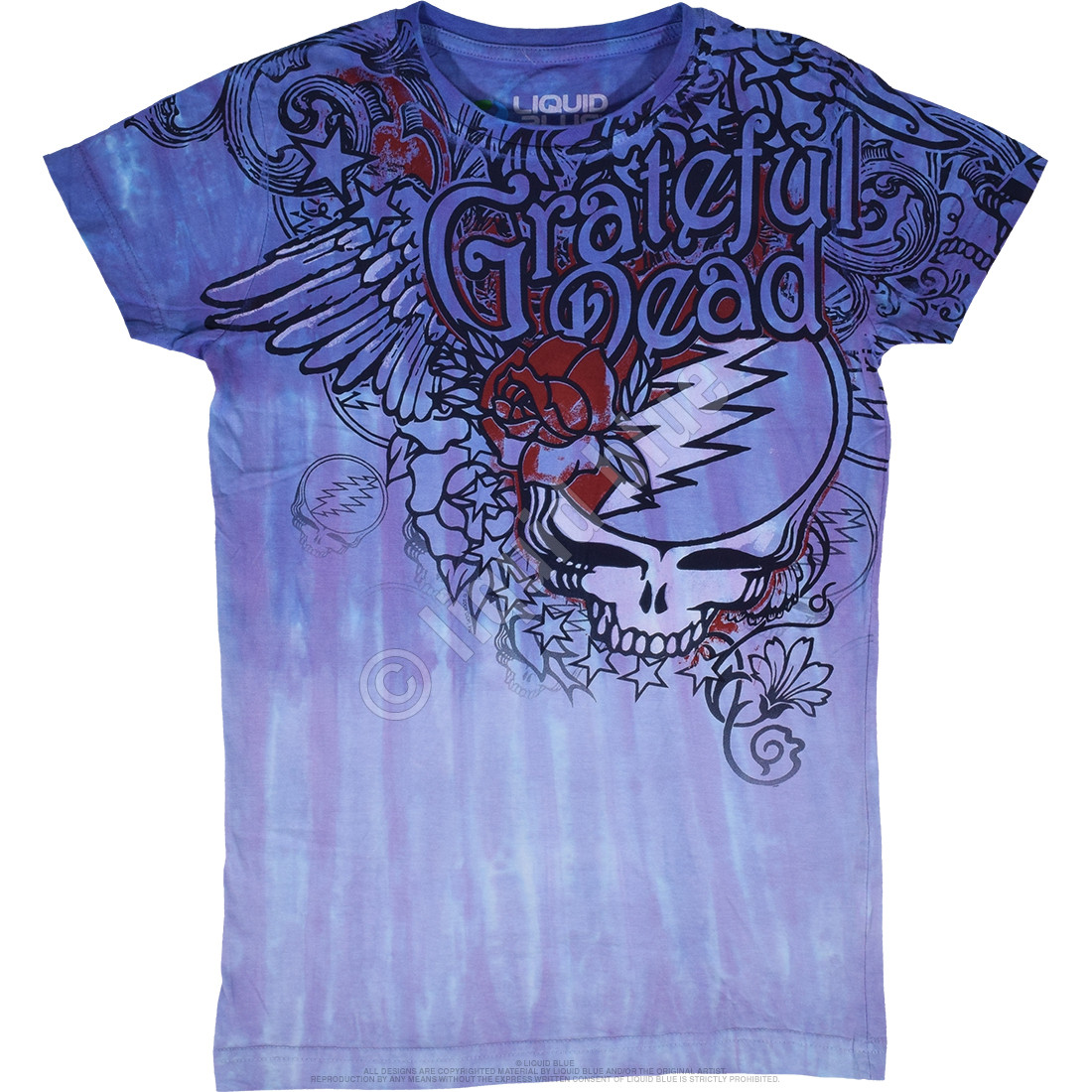 Dead Flowers Tie-Dye Juniors Long Length T-Shirt