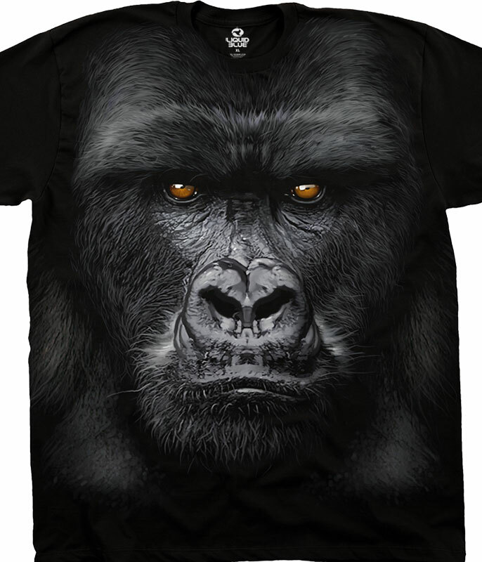 Majestic Gorilla Black Athletic T-Shirt