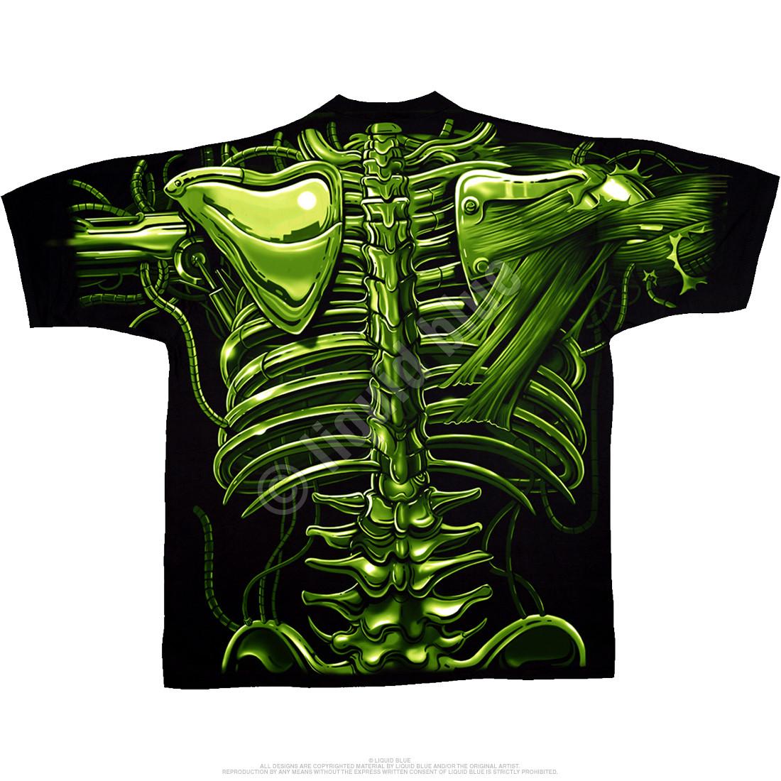 Terminator Skull Black T-Shirt