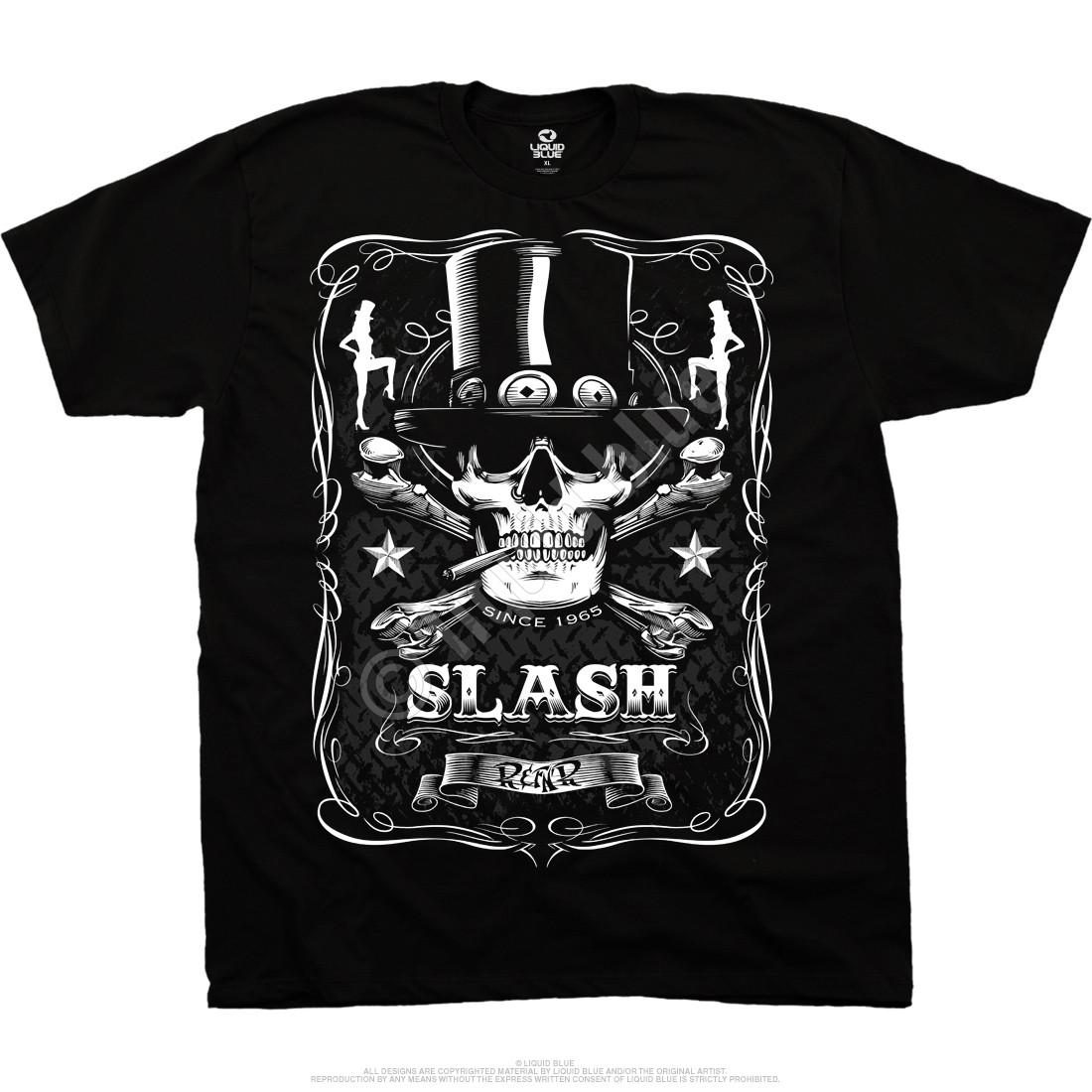 Bottle Of Slash Black Athletic T-Shirt