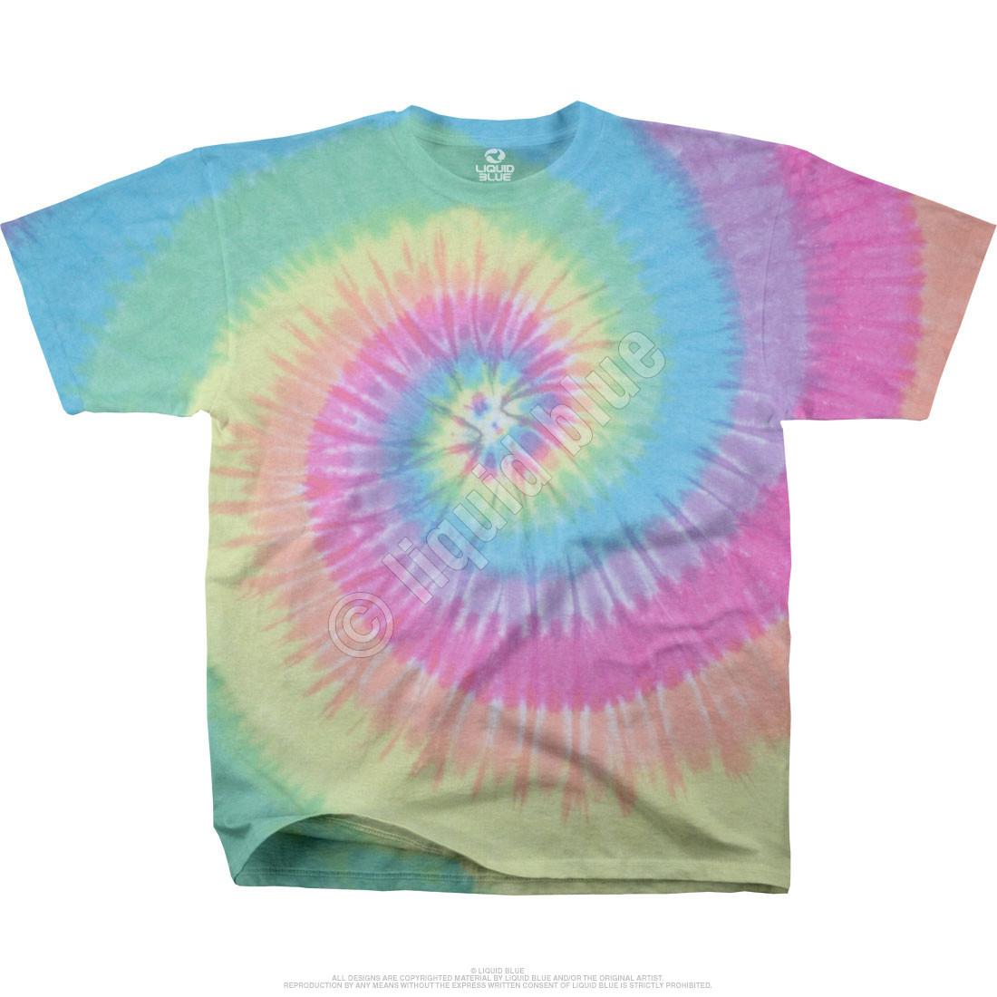 Pastel Tie Dye Hoodie Pastel Spiral Youth Tie Dye t