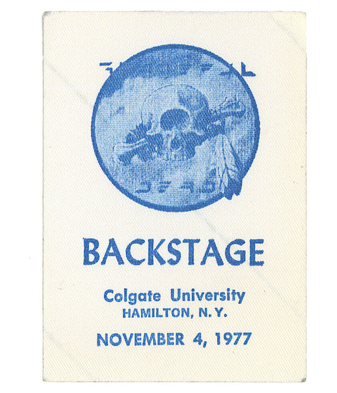GRATEFUL DEAD 1977 11-04 BACKSTAGE PASS