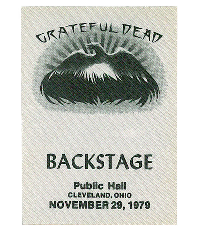 GRATEFUL DEAD 1979 11-29 BACKSTAGE PASS