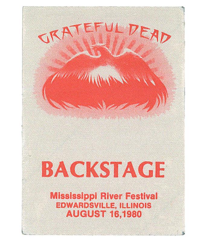 GRATEFUL DEAD 1980 08-16 BACKSTAGE PASS