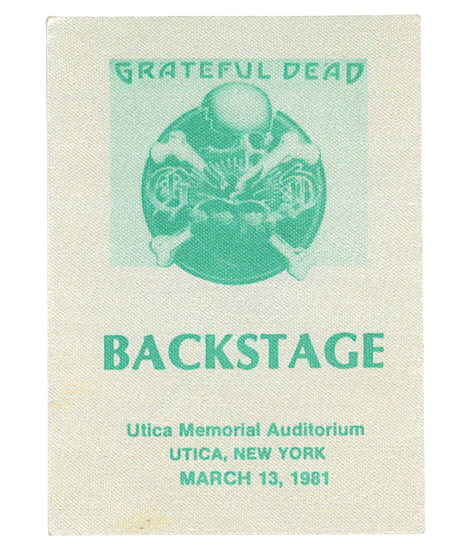 GRATEFUL DEAD 1981 03-13 BACKSTAGE PASS
