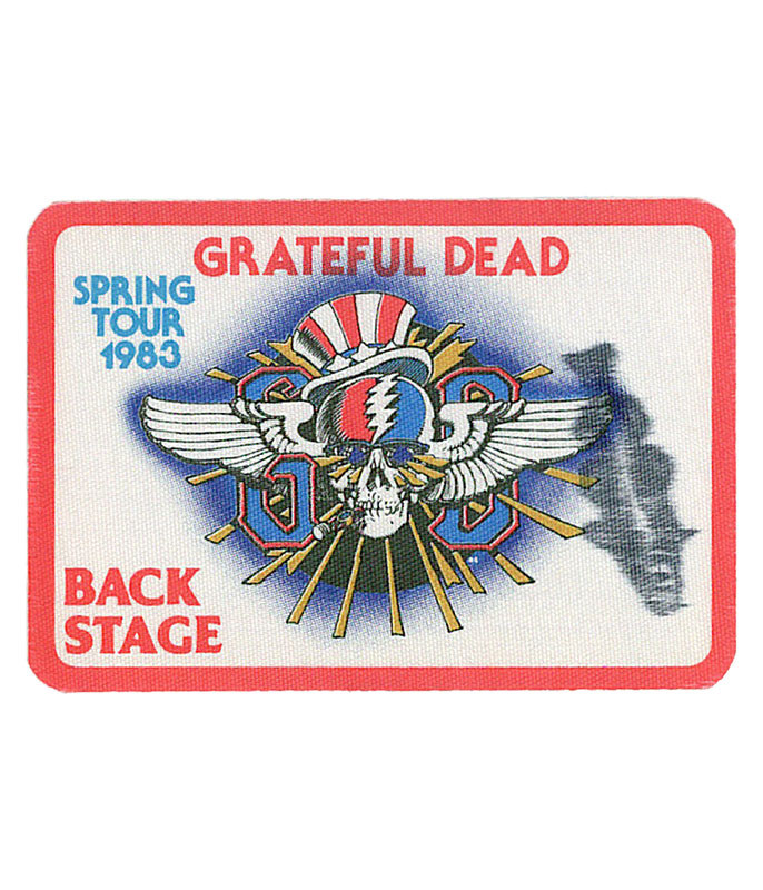 GRATEFUL DEAD 1983 SPRING TOUR RED BACKSTAGE PASS