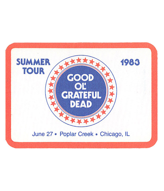 GRATEFUL DEAD 1983 06-27 BACKSTAGE PASS
