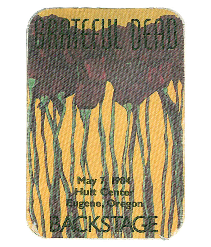 GRATEFUL DEAD 1984 05-07 BACKSTAGE PASS
