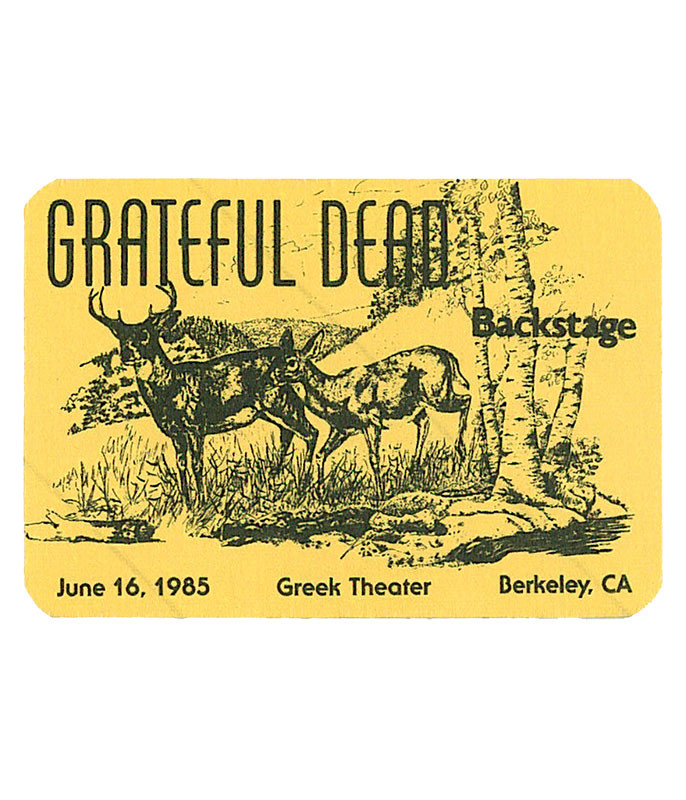 GRATEFUL DEAD 1985 06-16 BACKSTAGE PASS