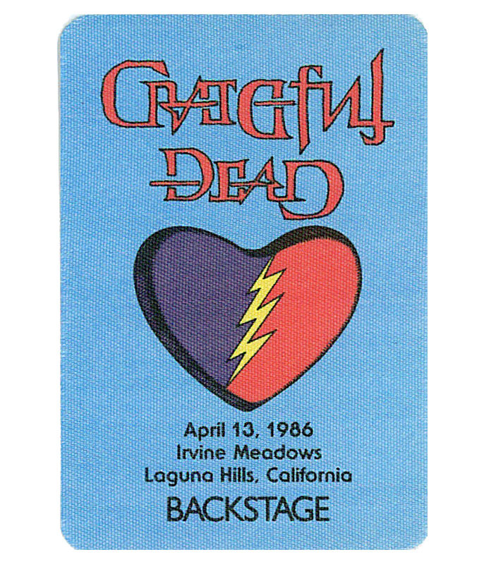 GRATEFUL DEAD 1986 04-13 BACKSTAGE PASS