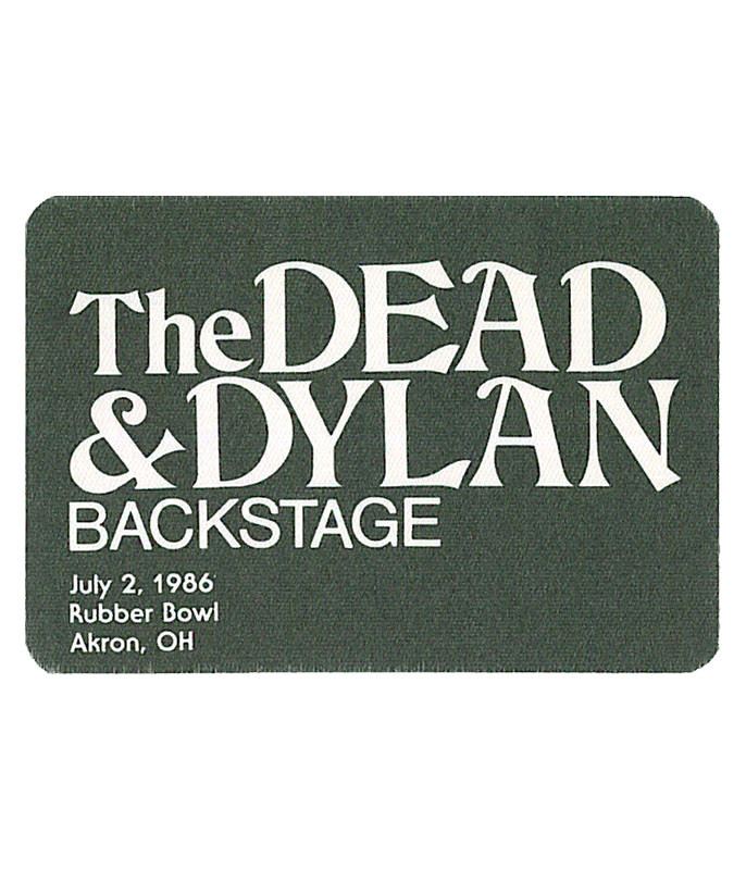 GRATEFUL DEAD 1986 07-02 BACKSTAGE PASS
