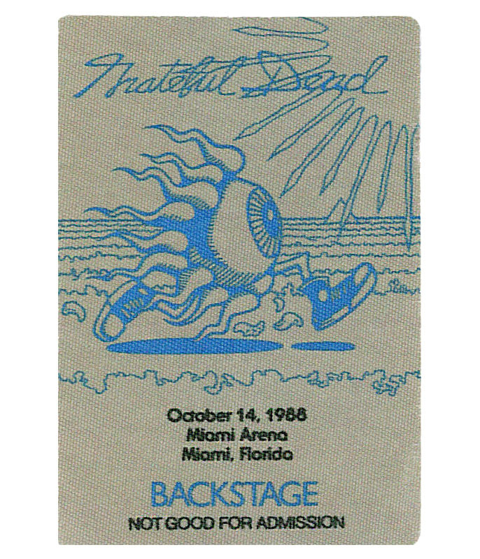 GRATEFUL DEAD 1988 10-14 BACKSTAGE PASS