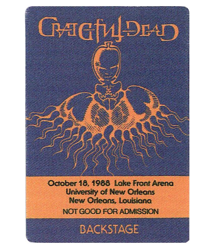 GRATEFUL DEAD 1988 10-18 BACKSTAGE PASS