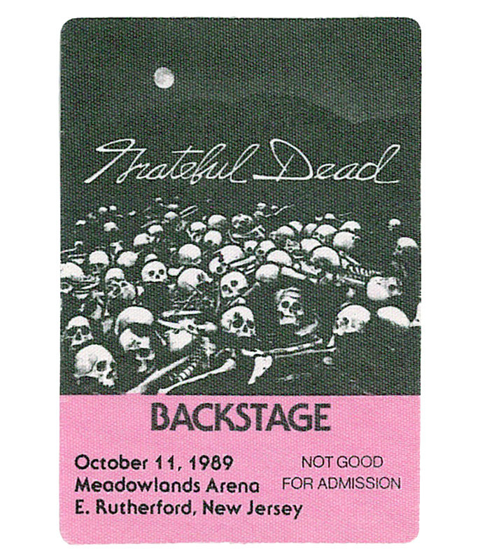 GRATEFUL DEAD 1989 10-11 BACKSTAGE PASS