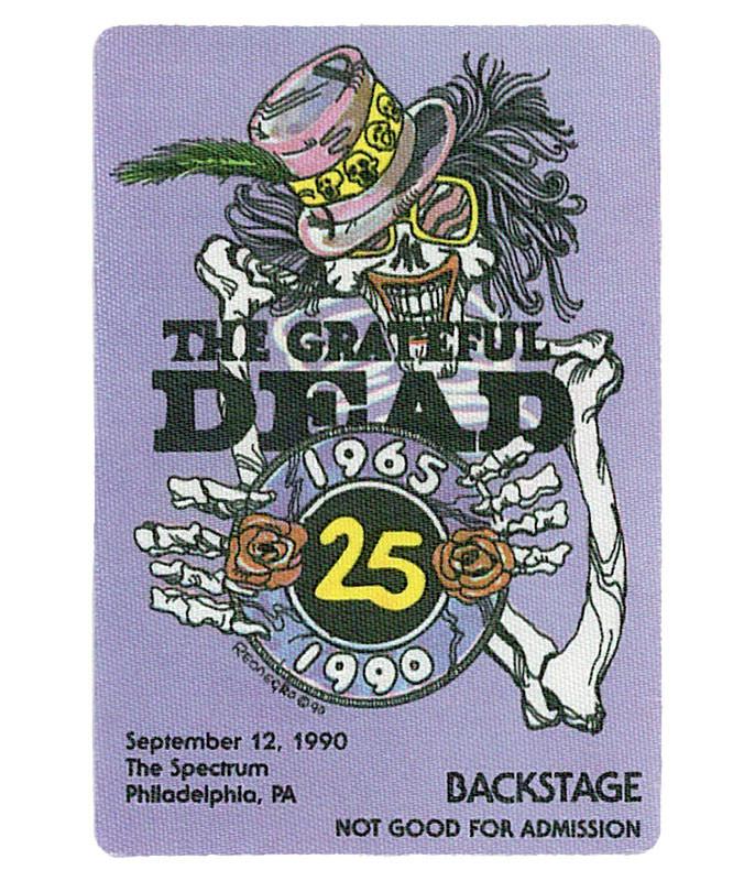 GRATEFUL DEAD 1990 09-12 BACKSTAGE PASS