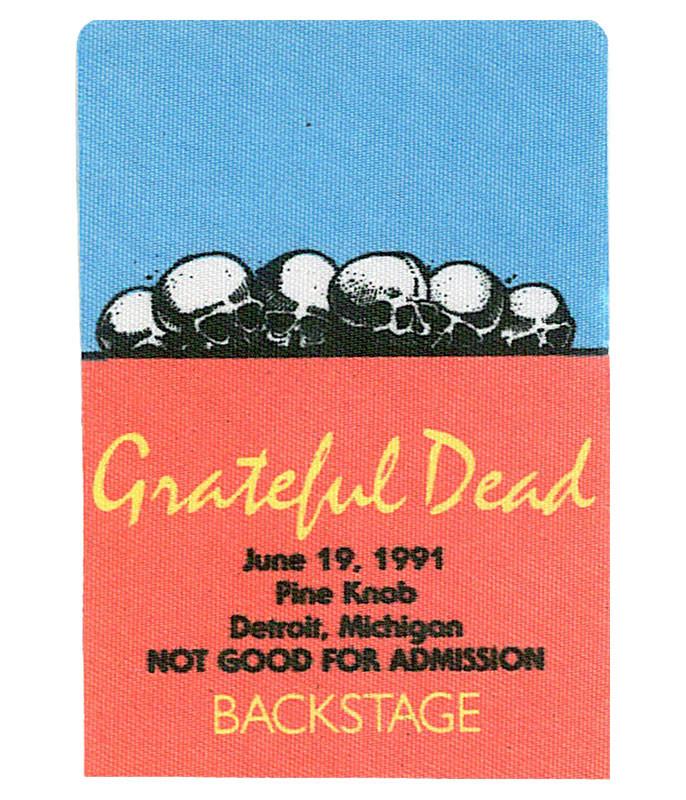 GRATEFUL DEAD 1991 06-19 BACKSTAGE PASS