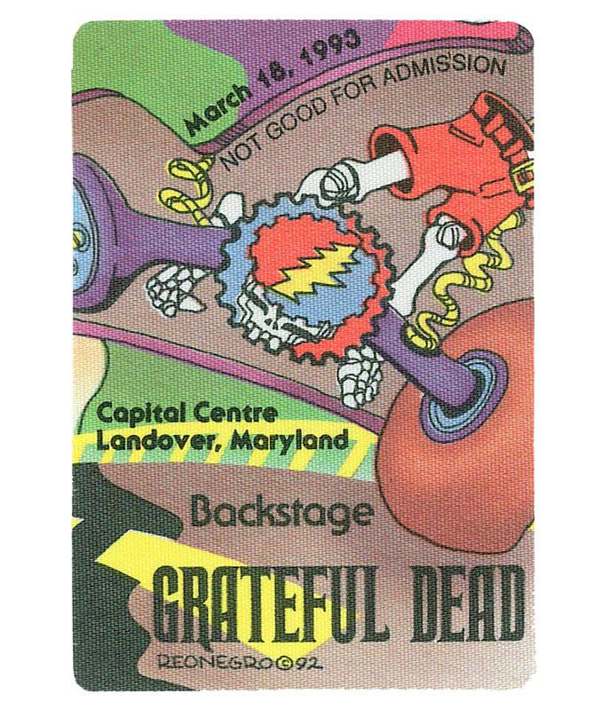 GRATEFUL DEAD 1993 03-18 BACKSTAGE PASS