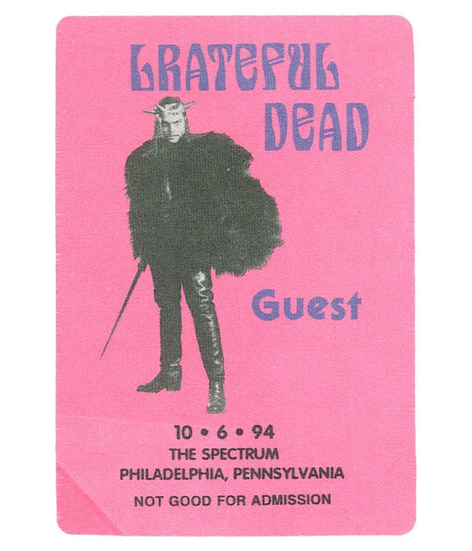 GRATEFUL DEAD 1994 10-06 BACKSTAGE PASS