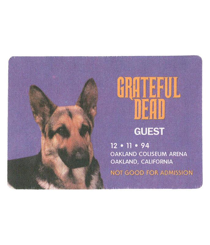 GRATEFUL DEAD 1994 12-11 BACKSTAGE PASS