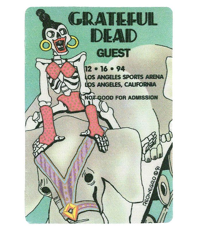 GRATEFUL DEAD 1994 12-16 BACKSTAGE PASS