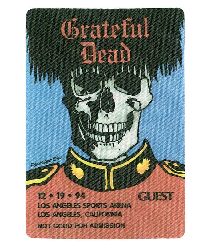 GRATEFUL DEAD 1994 12-19 BACKSTAGE PASS