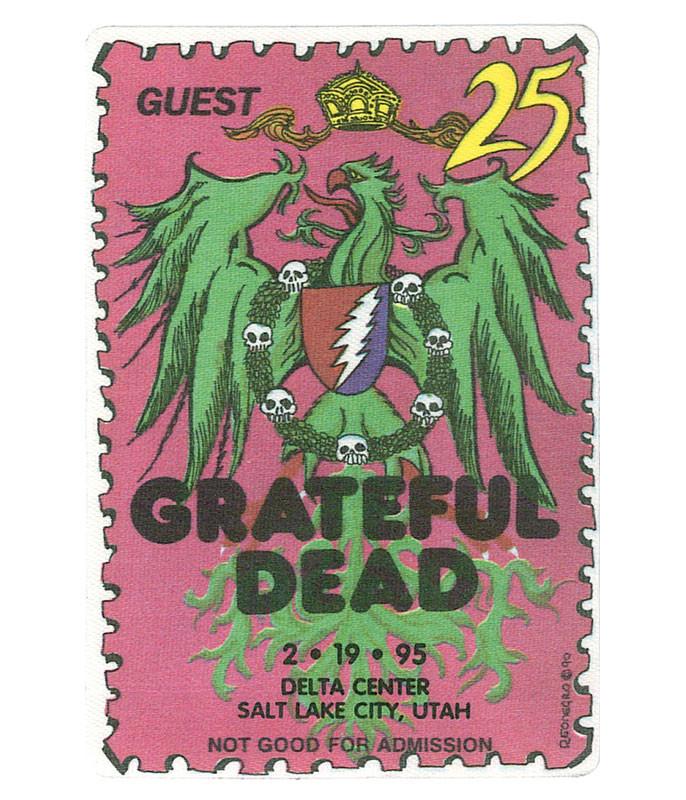 GRATEFUL DEAD 1995 02-19 BACKSTAGE PASS