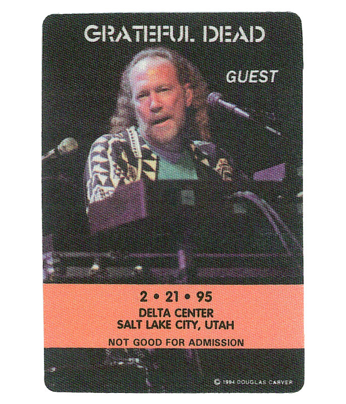 GRATEFUL DEAD 1995 02-21 BACKSTAGE PASS