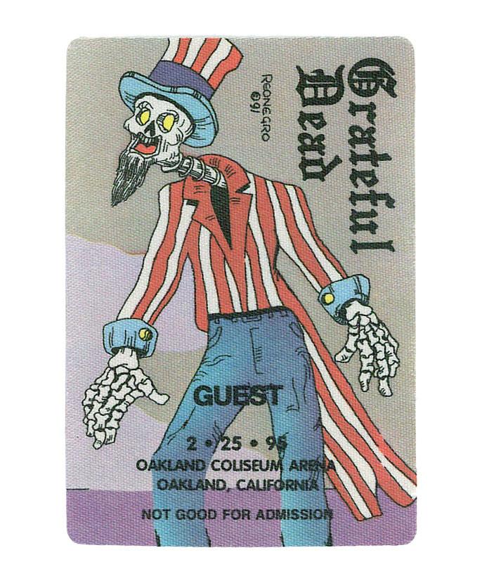 GRATEFUL DEAD 1995 02-25 BACKSTAGE PASS