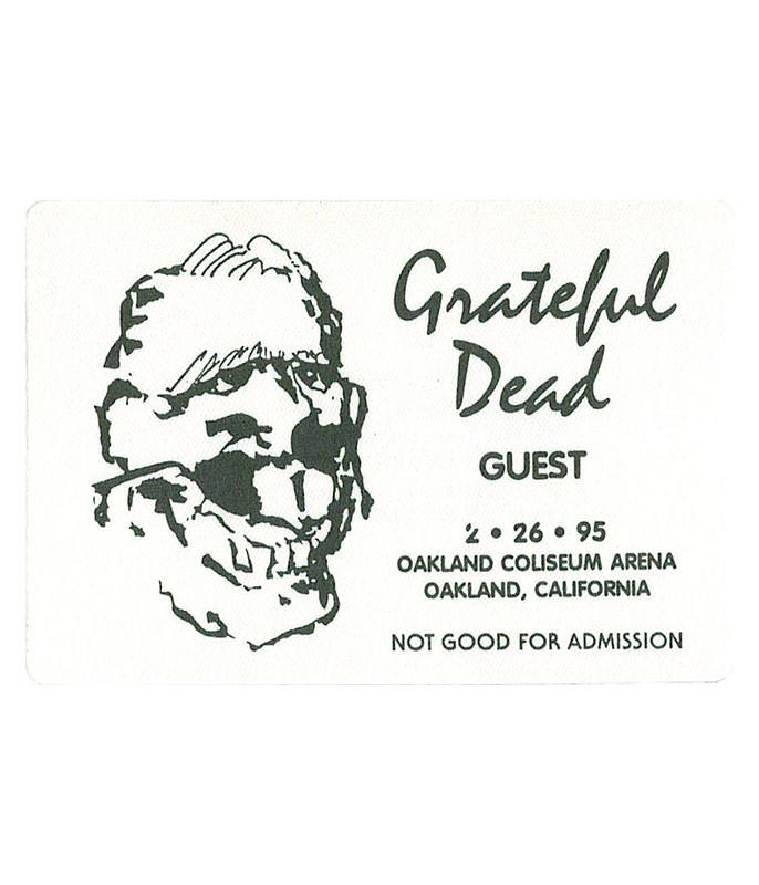 GRATEFUL DEAD 1995 02-26 BACKSTAGE PASS