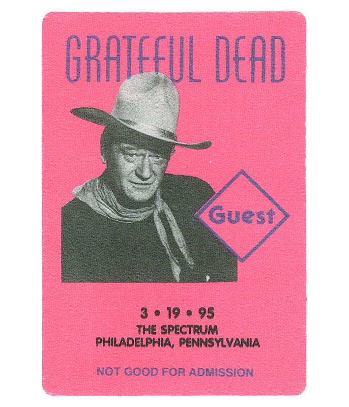 GRATEFUL DEAD 1995 03-19 BACKSTAGE PASS