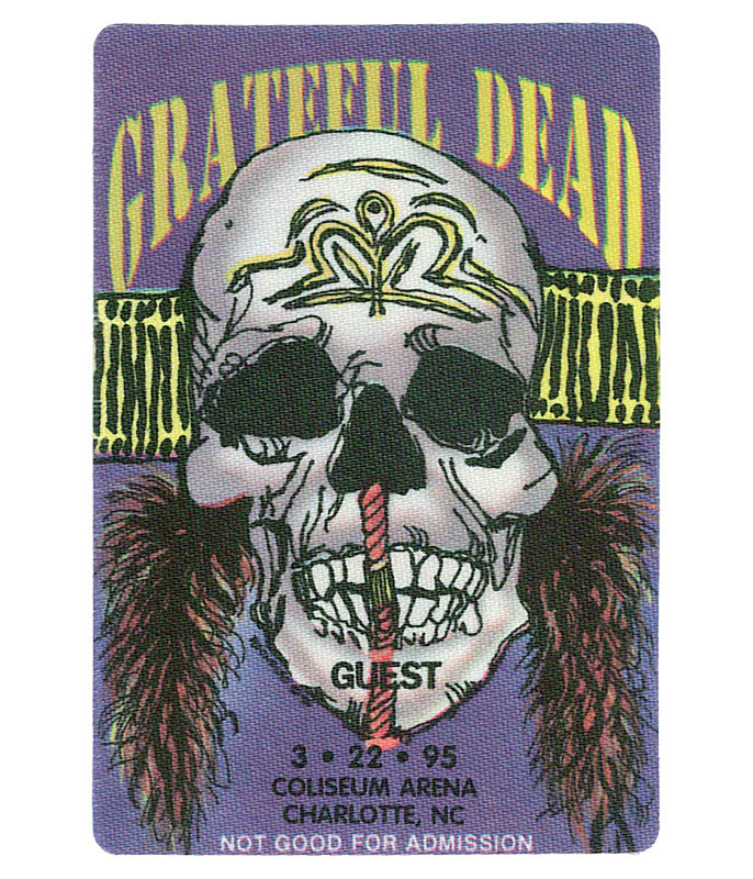 GRATEFUL DEAD 1995 03-22 BACKSTAGE PASS