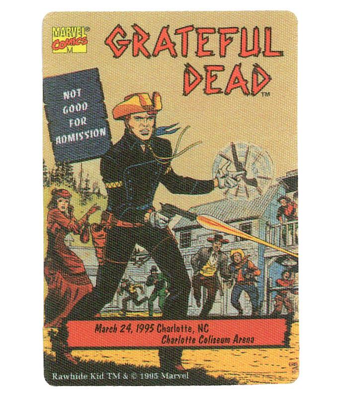 GRATEFUL DEAD 1995 03-24 BACKSTAGE PASS