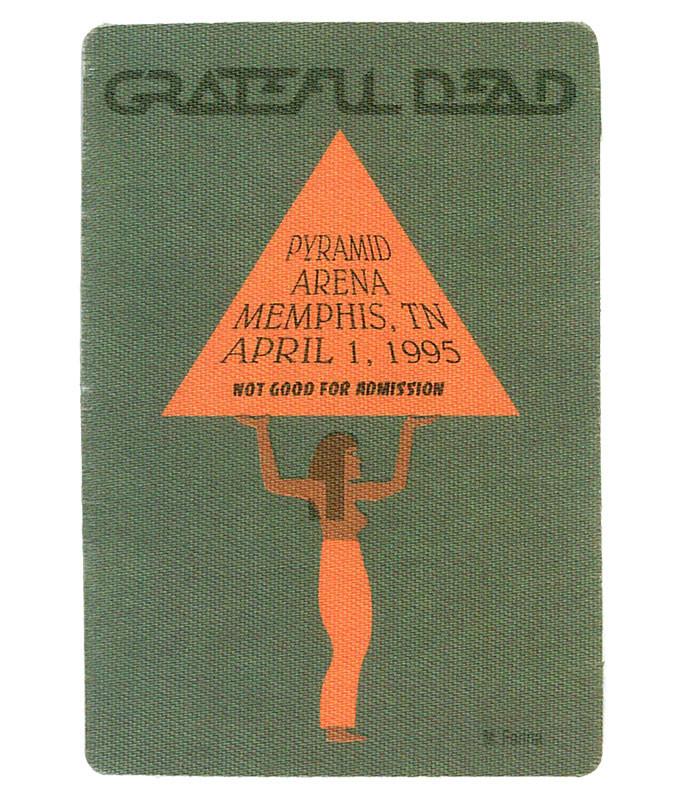 GRATEFUL DEAD 1995 04-01 BACKSTAGE PASS